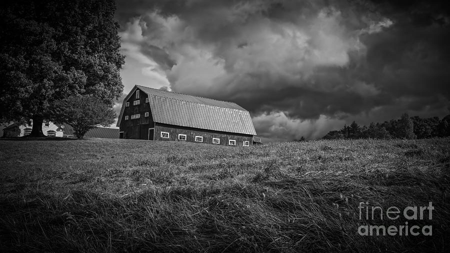 Farm Photograph - Storm Clouds Over The Farm by Edward Fielding