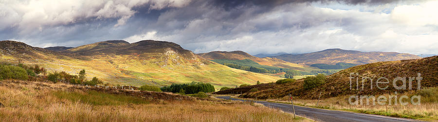 Road Photograph - Storm Clouds Over The Glen by Jane Rix