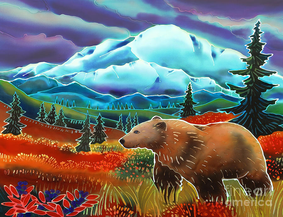 Bear Painting - Storm Coming by Harriet Peck Taylor