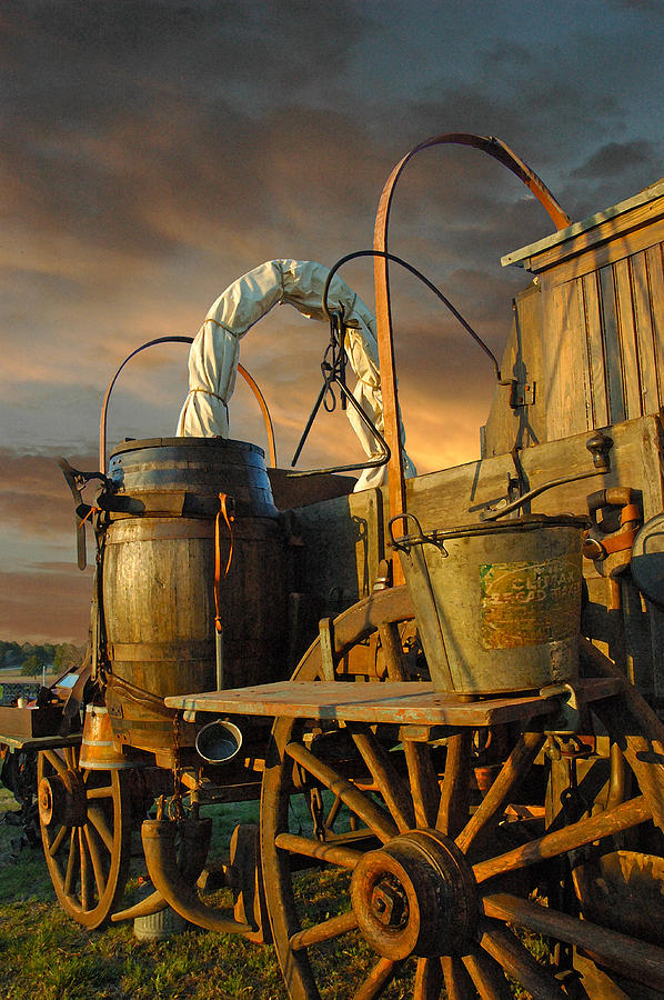 Chuck Wagon Photograph - Storm Coming by Robert Anschutz