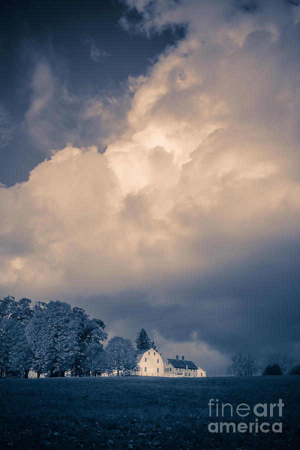 Canterbury Photograph - Storm Coming To The Old Farm by Edward Fielding