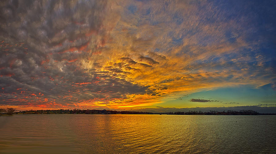 Color Photograph Photograph - Storm Front Sunset II by Dan Holland