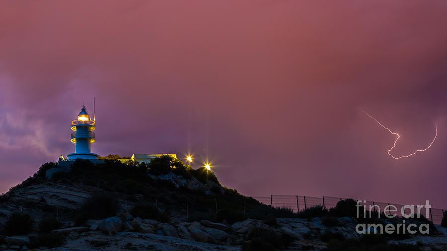 Storm In The Lighthouse Photograph by Eugenio Moya
