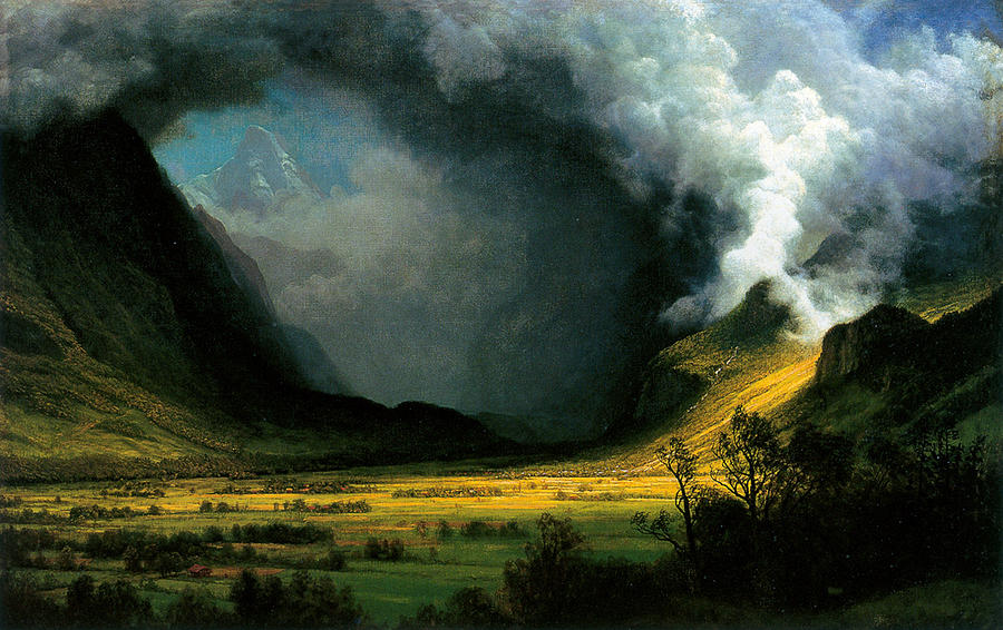 Albert Bierstadt Painting - Storm In The Mountains by MotionAge Designs