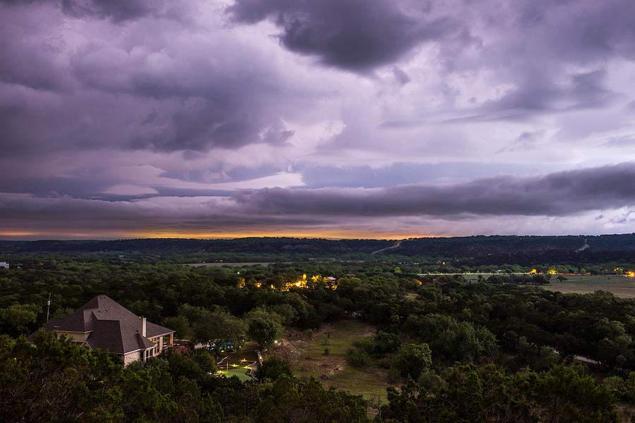 Night Photograph - Storm In The Valley by Darryl Dalton