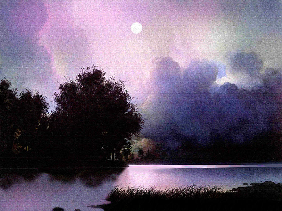 Landscape Painting - Storm Lake by Robert Foster