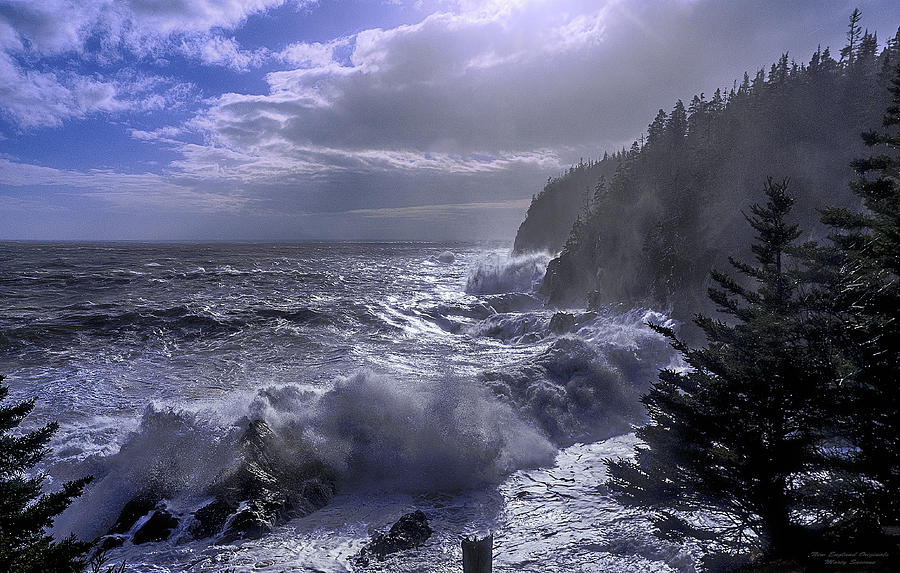 Quoddy Photograph - Storm Lifting At Gullivers Hole by Marty Saccone