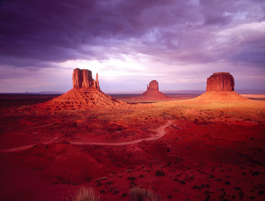 Storm Monument Valley Ut Az Usa Photograph By Panoramic Images
