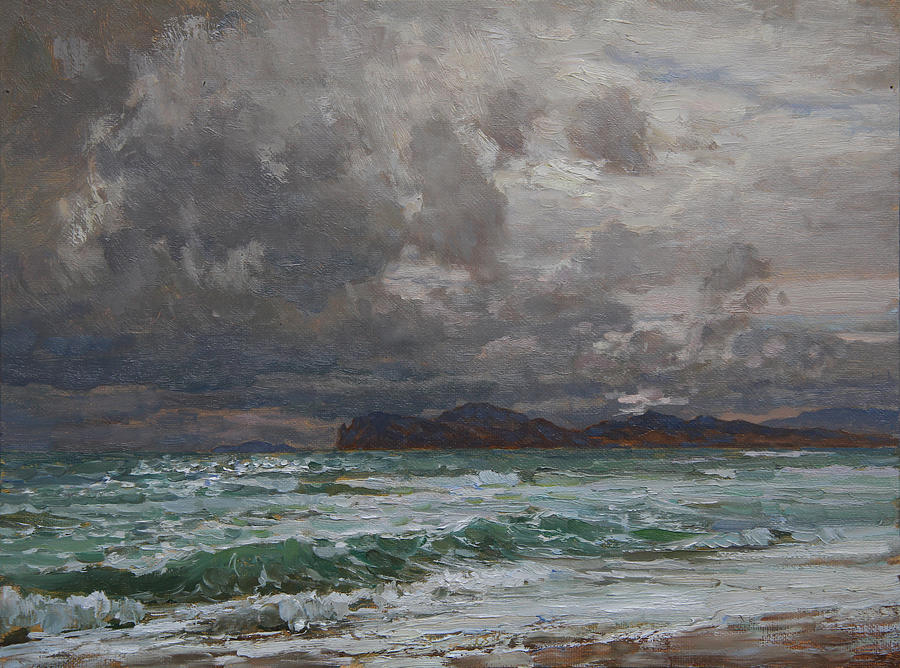 Landscape Painting - Storm On Black Sea by Korobkin Anatoly