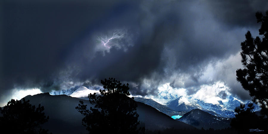 Rocky Mountain Photograph - Storm On Longs Peak by Ric Soulen