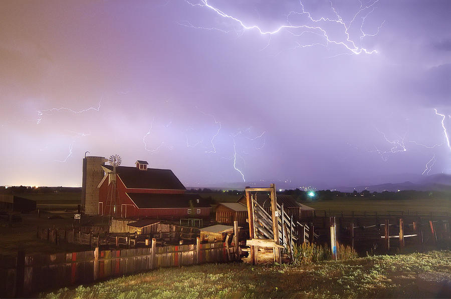 Lightning Photograph - Storm On The Farm by James BO  Insogna
