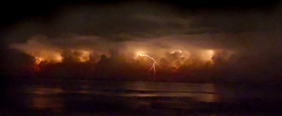 Florida Photograph - Storm On The Surf. Melbourne Shores. by Chris  Kusik