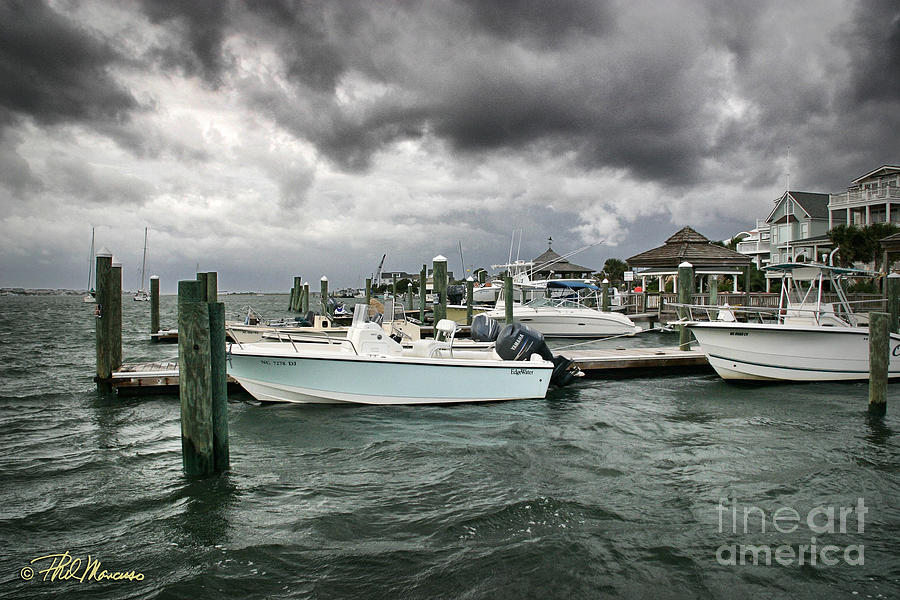 Nautical Photograph - Storm Over Banks Channel by Phil Mancuso