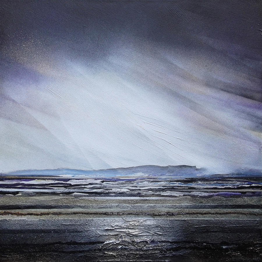 Storm Mixed Media - Storm Over Druridge Bay Northumberland 1 by Mike   Bell