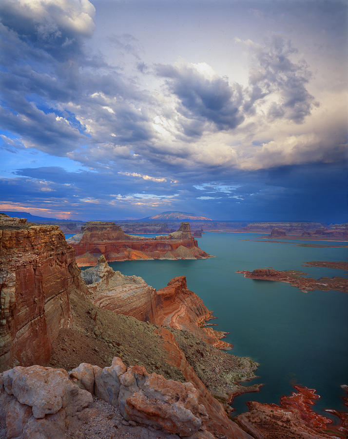 Lake Powell Photograph - Storm Over Lake Powell by Ray Mathis