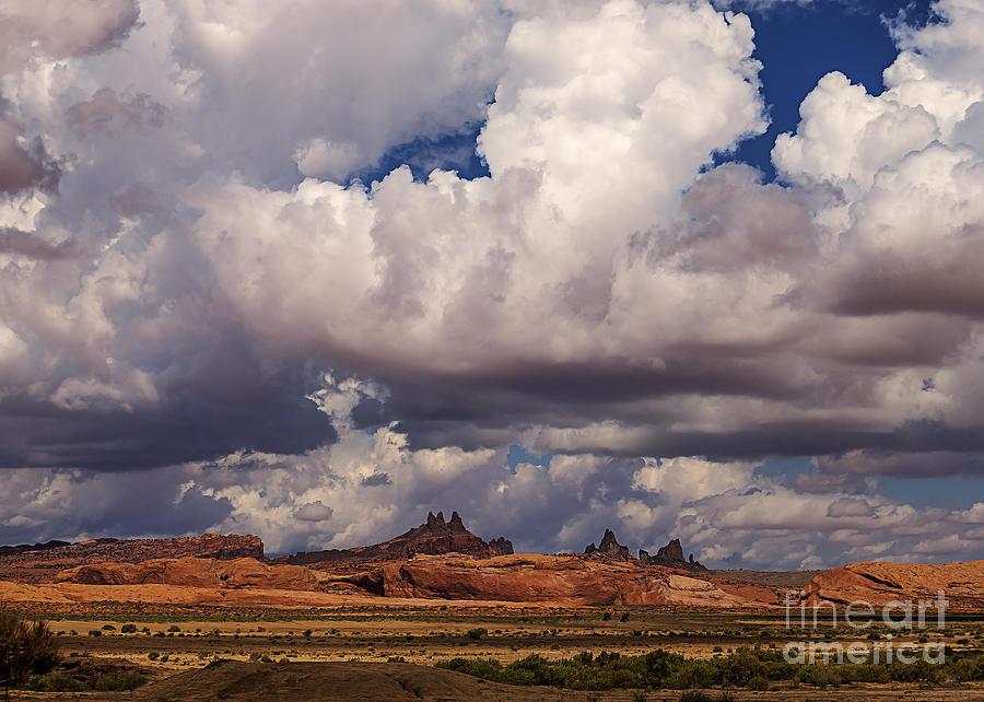 Arizona Photograph - Storm Over Monument Valley by Janice Rae Pariza