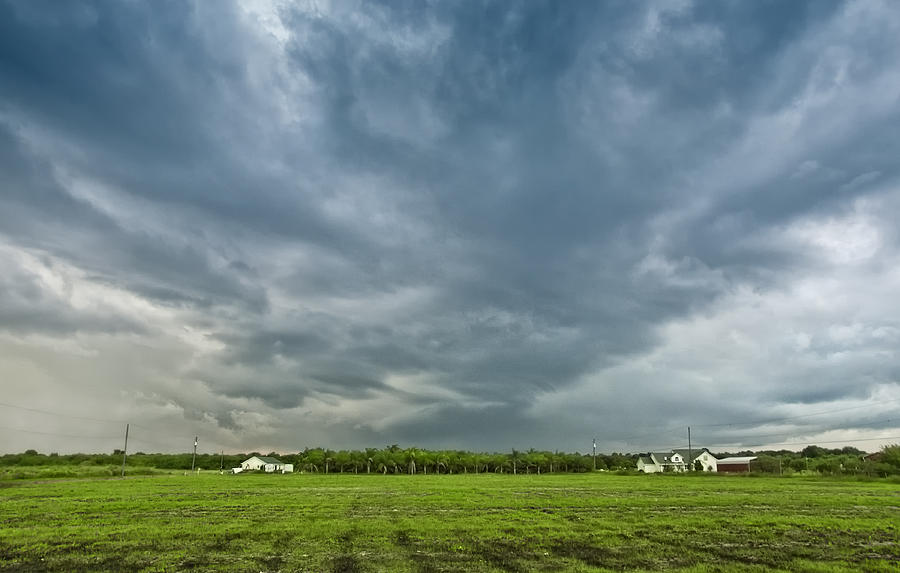 Florida Landscape Photograph - Storm Over Nursery by Louise Hill
