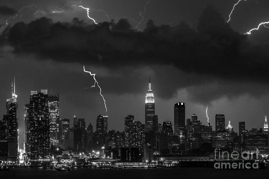 New York City Photograph - Storm Over Nyc  by Jerry Fornarotto