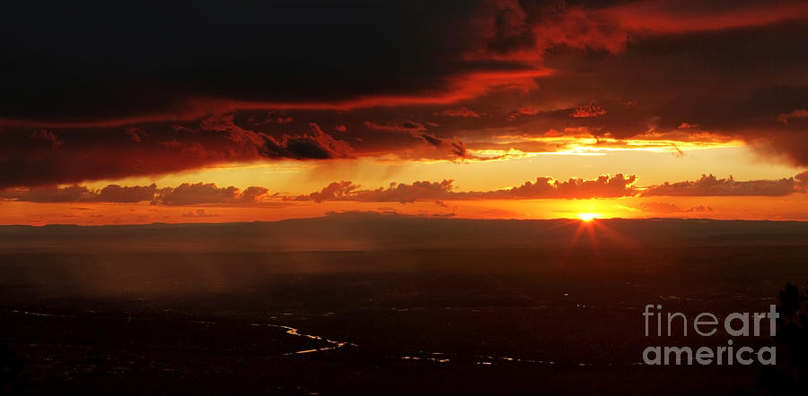 Sandia Photograph - Storm Over Rio Grande by Matt Tilghman