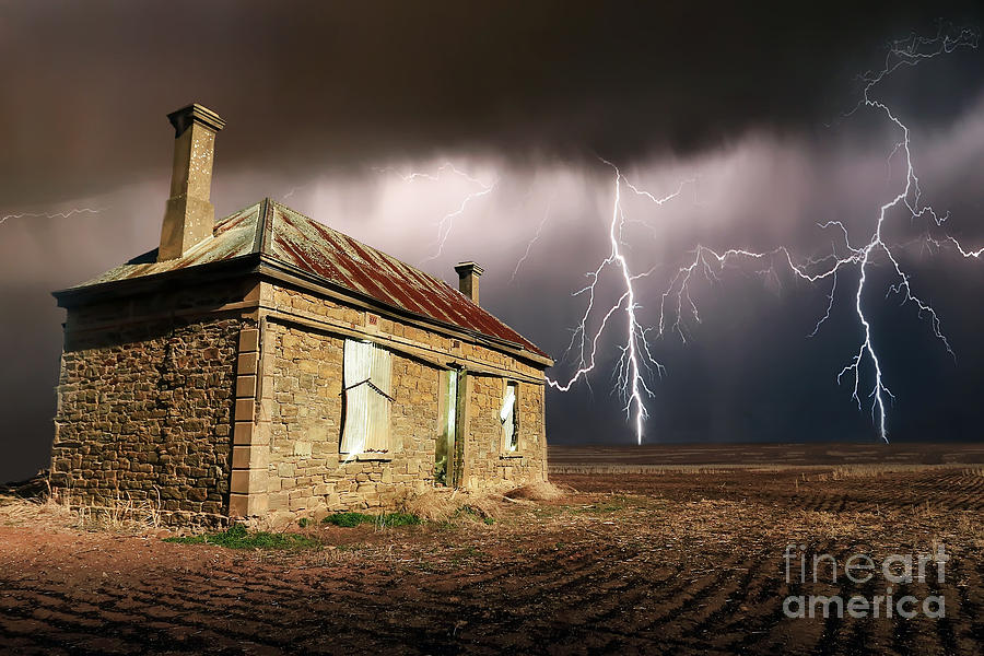 Ruin Photograph - Storm Over Ruin by Shannon Rogers