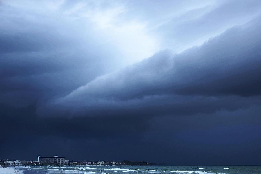 Storm Painting - Storm Over Siesta Key - Beach Art By Sharon Cummings by Sharon Cummings