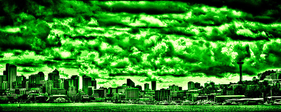 Space Needle Photograph - Storm Over The Emerald City by David Patterson