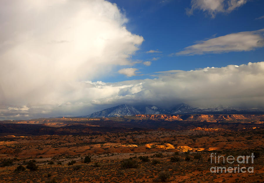 Storm Photograph - Storm Over The La Sals by Mike  Dawson