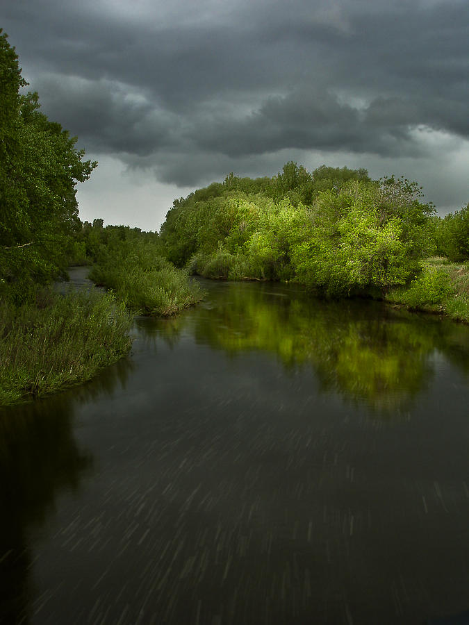 River Photograph - Storm Over The Poudre by Michael Van Beber