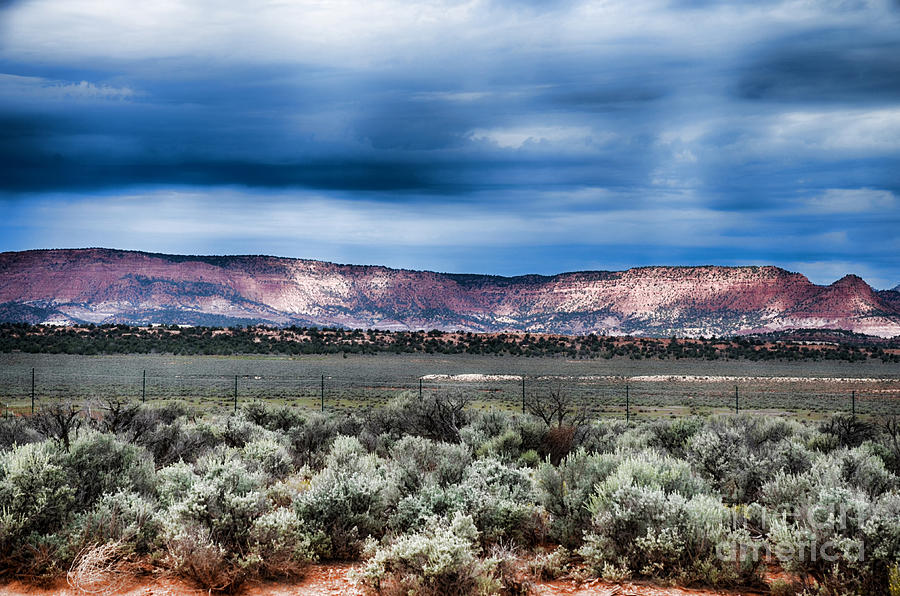 Storm Over the Vermilion Cliffs by Donna Greene