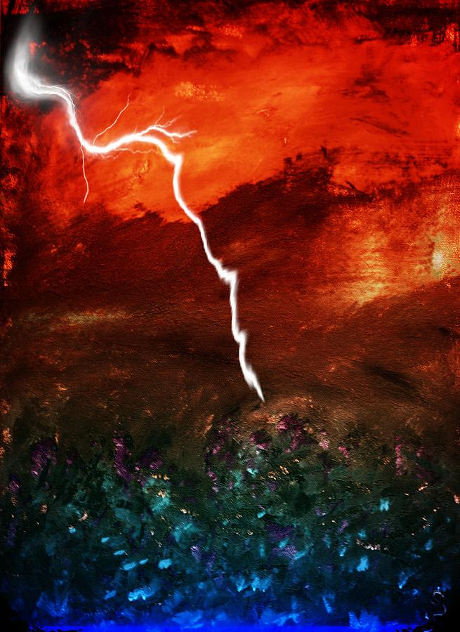 Paciano Mixed Media - Storm Over Umbria by Dorothy Berry-Lound