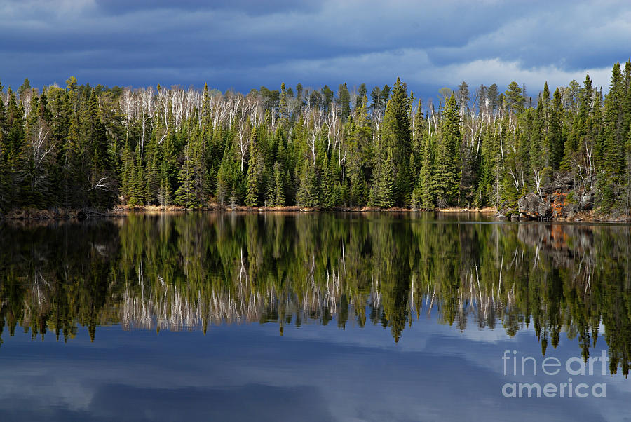Nature Photograph - Storm Reflections by Larry Ricker