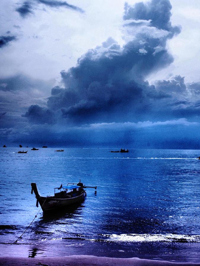 Storm Photograph - Storm Rolls Over The Sea by Kaleidoscopik Photography