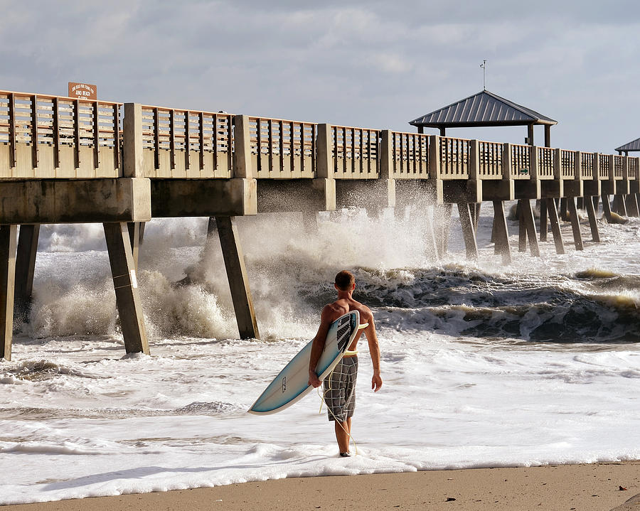 Surfer Photograph - Storm Surfer by Laura Fasulo