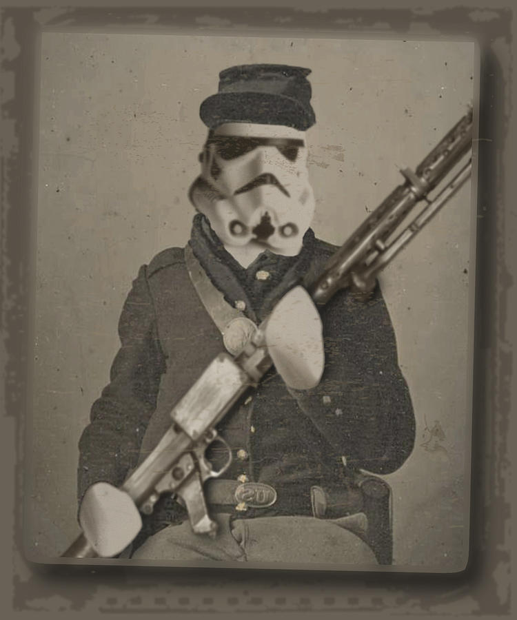 Storm Trooper Painting - Storm Trooper Star Wars Antique Photo by Tony Rubino