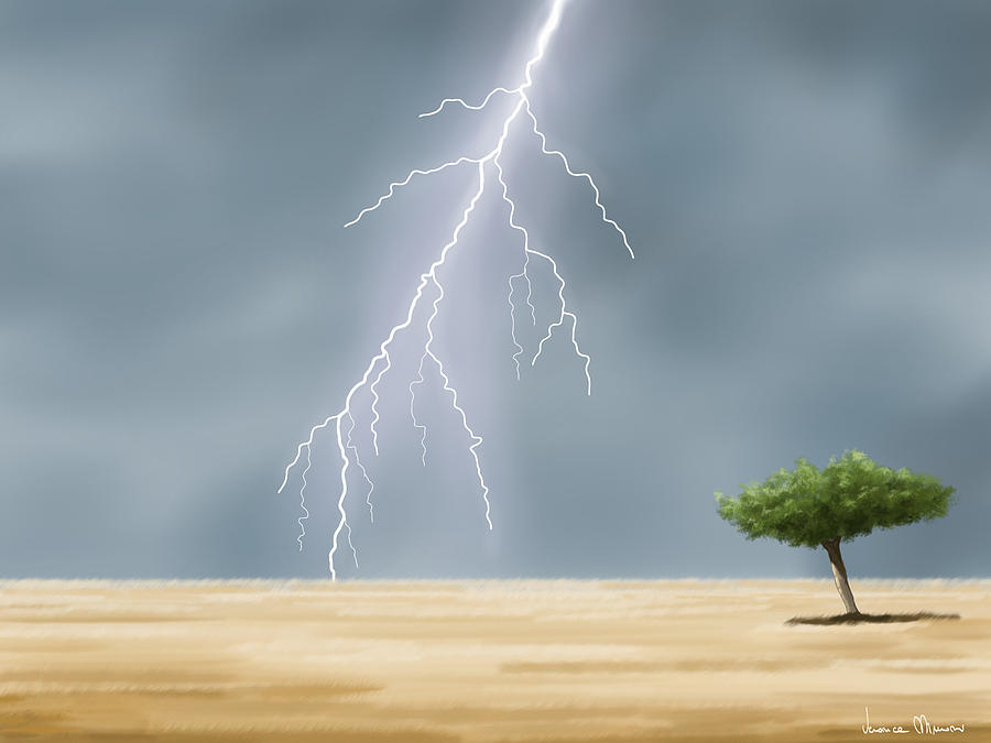 Digital Painting - Storm by Veronica Minozzi