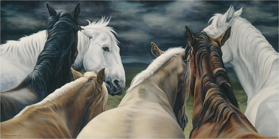 Michelle Grant Painting - Storm Warning by JQ Licensing