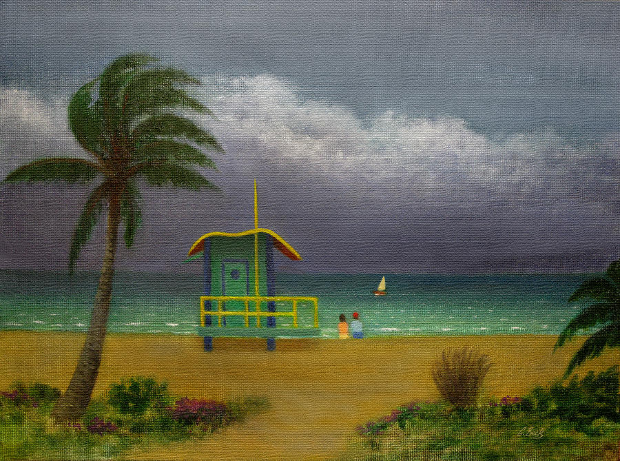 Tropical Painting - Storm Watchers by Gordon Beck