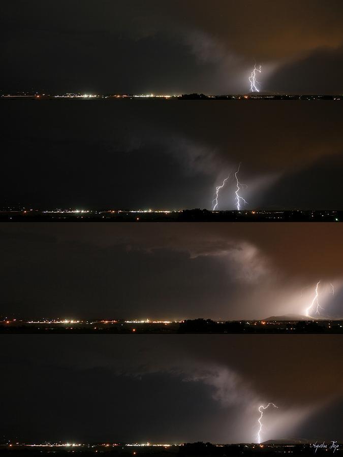 Lightning Photograph - Stormed by Augustina Trejo