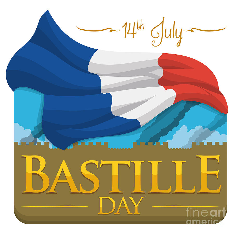 14th Digital Art - Storming Of The Bastille Representation by Penwin