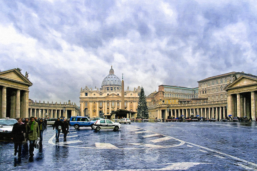 St. Peter's Photograph - Storms Over St Peters Basilica In Rome by Mark Tisdale