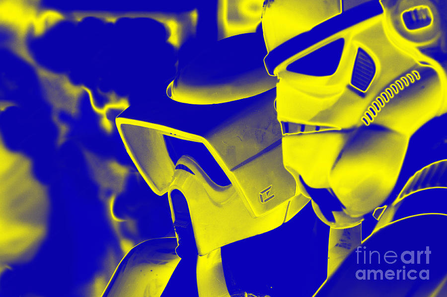 Boba Photograph - Stormtrooper And Biker Scout by Micah May