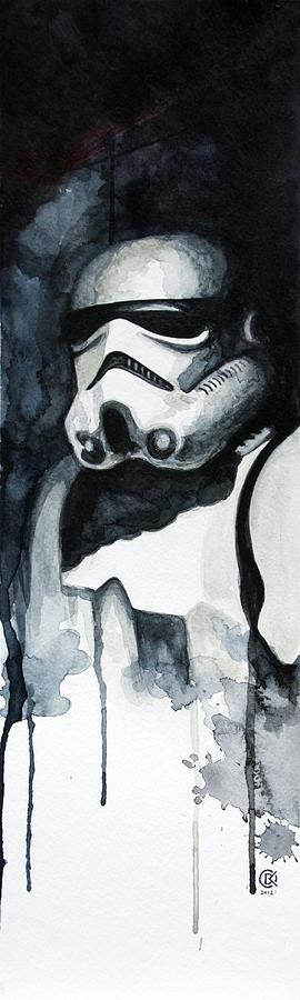Star Wars Painting - Stormtrooper by David Kraig