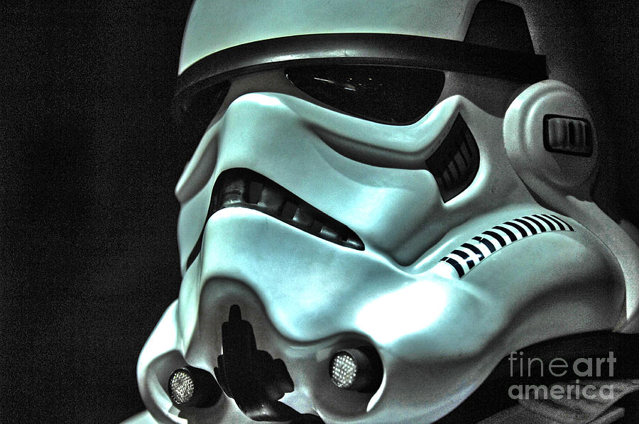 Stormtrooper Photograph - Stormtrooper Helmet 11 by Micah May