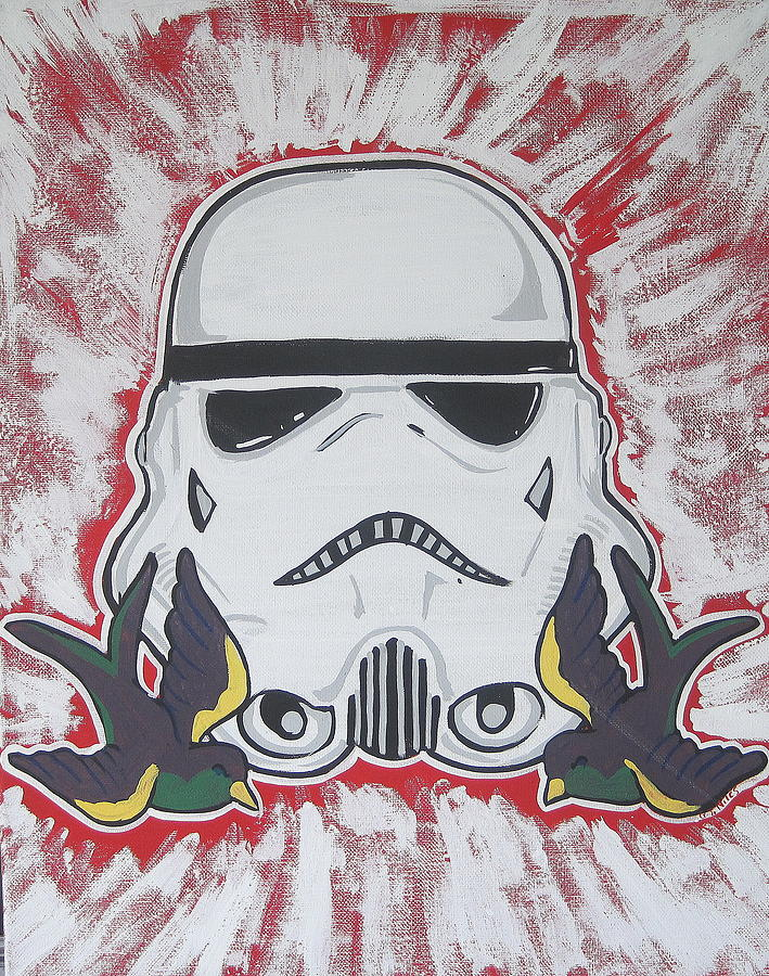 Darth Painting - Stormtrooper Tattoo Art by Gary Niles