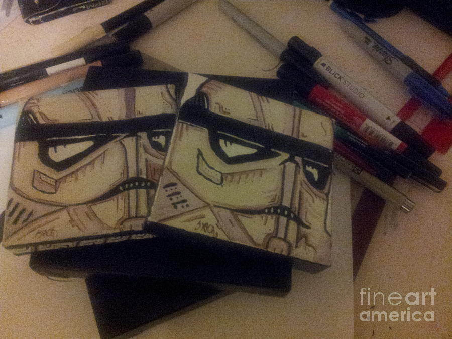 Ghetto Painting - Stormtroopers by Cesar Puga
