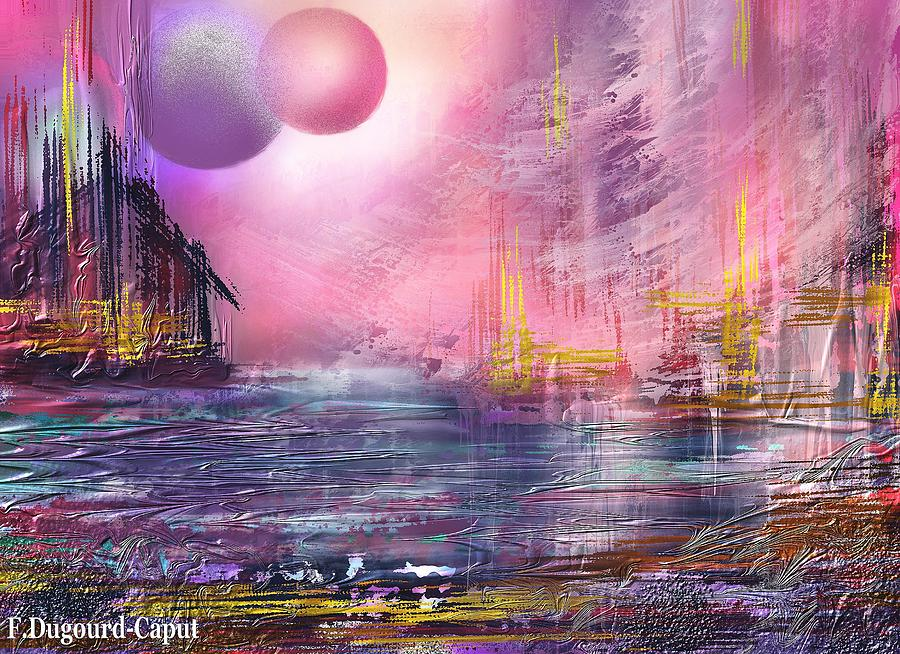 Digital Painting Painting - Stormway by Francoise Dugourd-Caput