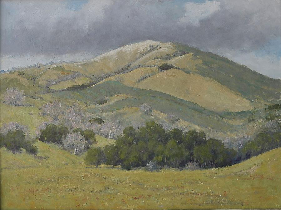 California Art Painting - Stormy Afternoon by Marv Anderson