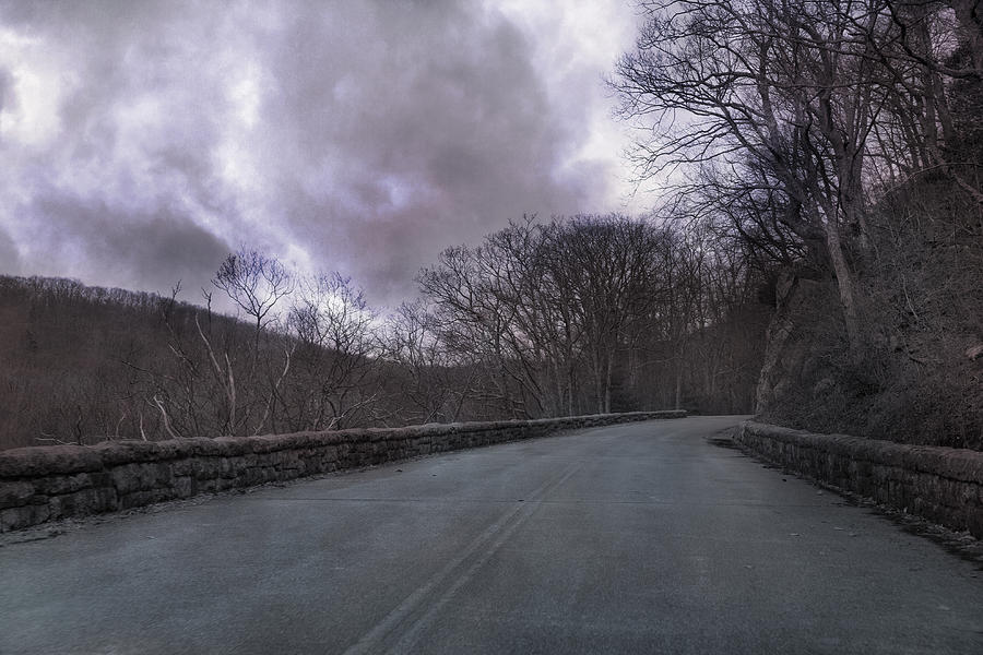Blue Photograph - Stormy Blue Ridge Parkway by Betsy Knapp