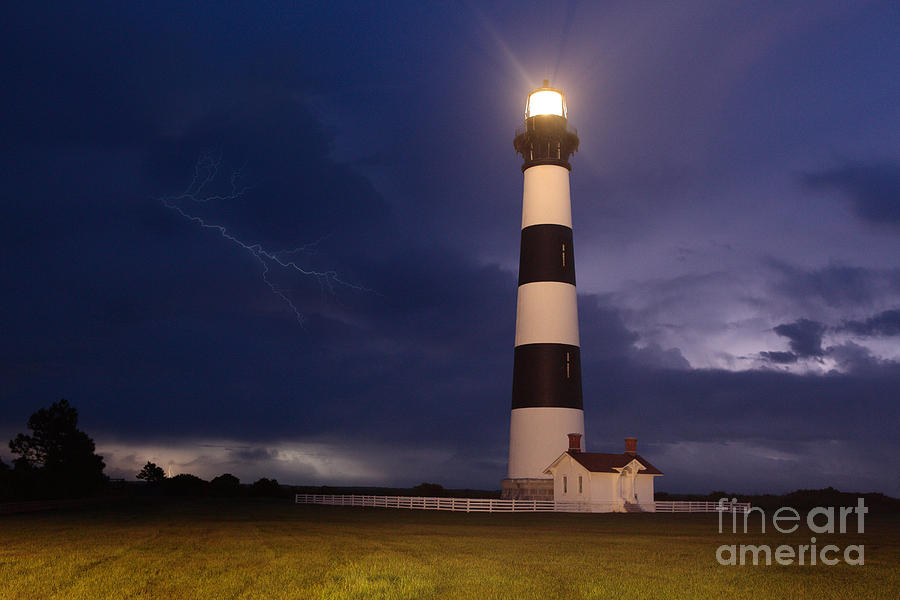 Outer Banks Photograph - Stormy Bodie Lighthouse Outer Banks I by Dan Carmichael