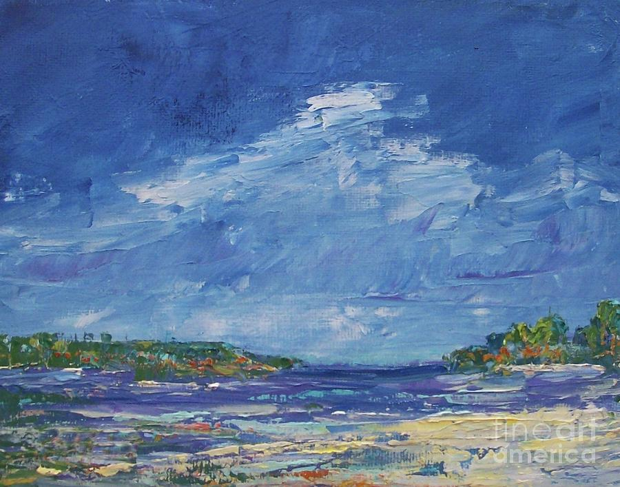 Stormy Day at Picnic Island by Gail Kent